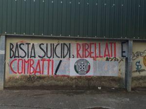 Iniziativa di CasaPound sul problema dei suicidi che attanaglia la regione Sardegna.