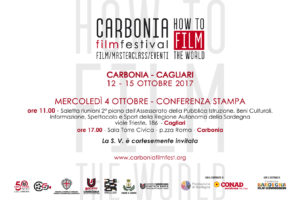 "Verrà presentato mercoledì 4 ottobre, a Carbonia, l'evento ""Carbonia Film Festival presenta How To Film The World""."