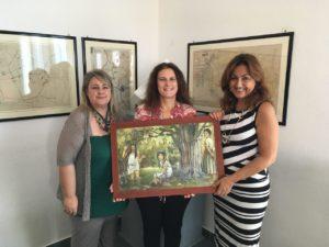 L'artista Debora Diana ha donato un quadro all'Amministrazione comunale di Carbonia.