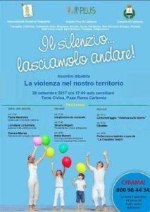 """Domani, giovedì 28 settembre, alle ore 17.00, la sala polifunzionale di Piazza Roma ospiterà il dibattito """"Il silenzio…lasciamolo andare!""""."""