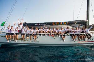 Adelasia di Torres ha tagliato il traguardo della Maxi Yacht Rolex Cup.