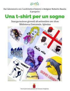 """Giovedì 28 settembre verranno presentate, a Iglesias, le maglie del progetto """"Una t-shirt per un sogno""""."""