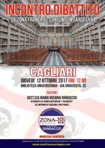 Giovedì 12 ottobre la Biblioteca Universitaria di Cagliari ospiterà un convegno sulla Zona Franca al consumo in Sardegna.