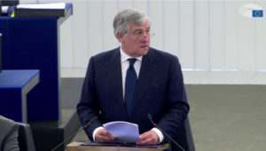 Il presidente del Parlamento europeo annuncia il vincitore del Premio Sakharov 2017 per la libertà di pensiero.