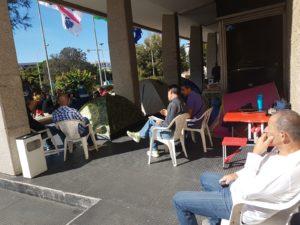 I lavoratori ex Ati-Ifras proseguono, ormai da 31 giorni, il presidio sotto il Palazzo della Giunta regionale.