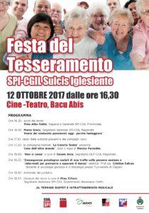 E' in programma questo pomeriggio, al cine-teatro di Bacu Abis, la festa del tesseramento dello Spi-Cgil del Sulcis Iglesiente.