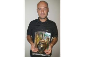 """Filippo Lorrai, 33 anni, originario di Sant'Antioco, ha vinto il premio nazionale Rai per giovani autori """"La Giara""""."""