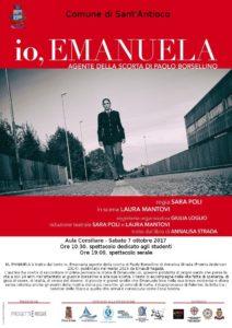 """E' iniziata con grande successo, a Dorgali, la circuitazione in Sardegna della rappresentazione teatrale """"Io, Emanuela, agente della scorta di Paolo Borsellino"""""""