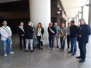 E' ripresa questa mattina, a Cagliari, la protesta dei sindaci dei Comuni appartenenti al GASI che hanno incontrato i capigruppo del Consiglio regionale.