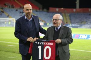 Il presidente della Figc Carlo Tavecchio ieri sera è stato ospite d'onore allaSardegna Arena.