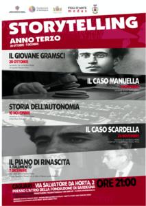 Anche quest'anno, dal 20 ottobre, la hall della Fondazione di Sardegna sarà la culla della rassegna Storytelling.