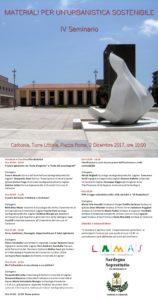 """Sabato 2 dicembre, la sala polifunzionale del comune di Carbonia ospiterà un incontro sul tema """"Materiali per un'urbanistica sostenibile""""."""