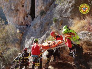 Si è concluso alle 15.30 l'intervento del CNSAS (Corpo Nazionale Soccorso Alpino e Speleologico), a Domusnovas, per il recupero di un'arrampicatrice infortunata.