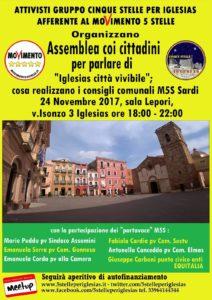 """Venerdì sera, a Iglesias, si terrà un incontro su """"Iglesias città vivibile"""" organizzato dagli attivisti del gruppo """"5 stelle per Iglesias Afferente al M5S""""."""