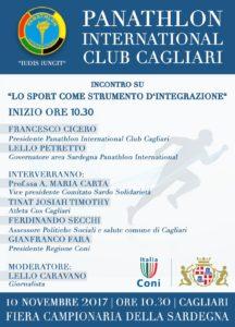 Il 10 novembre la Fiera di Cagliari ospiterà un convegno sullo sport come strumento di integrazione.