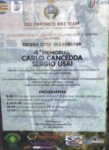 """Domenica, a Carbonia, si svolgerà il 4° memorial """"Trofeo Città di Carbonia: Memorial Carlo Cancedda e Sergio Usai""""."""