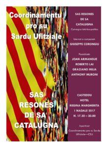 """Venerdì 1 dicembre, a Cagliari, si terrà un  convegno su """"Le ragioni della Catalogna"""". Appello sulla liberazione di prigionieri politici."""
