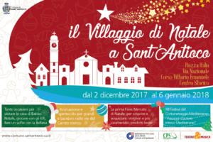 """Dal 2 dicembre al 6 gennaio """"Il Villaggio di Natale a Sant'Antioco""""."""