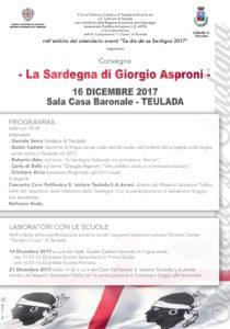 """Si parlerà di lingua sarda, della figura di """"Giorgio Asproni"""" e della sua visione di Sardegna, in un convegno che si terrà sabato sera nella sala della Casa Baronale di Teulada."""