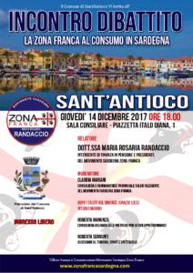"""Giovedì 14 dicembre, a Sant'Antioco, si terrà un incontro dibattito su """"La Zona Franca al consumo in Sardegna""""."""