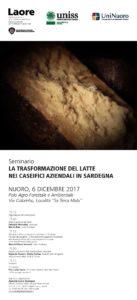 """Si terrà domani, a Nuoro, unseminario su """"La trasformazione del latte nei caseifici aziendali in Sardegna""""."""