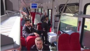 Tre nuovi treni Stadler sono entrati in servizio oggi sulla tratta Macomer-Nuoro gestita dall'Arst.
