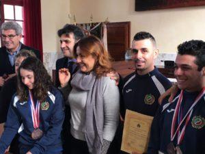 Questa mattina l'Amministrazione comunale di Carbonia ha premiato 9 società sportive distintesi nel 2017.