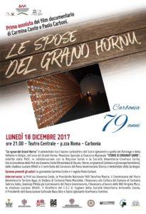 """Per il compleanno di Carbonia, questa sera, alle 21.00, il Teatro Centrale ospita la prima assoluta del docufilm """"Le spose del Grand Hornu""""."""