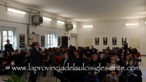 """Sono stati inaugurati questa mattina all'Istituto """"C. Beccaria"""", a Carbonia, i laboratori didattici realizzati con il finanziamento del""""Piano Sulcis""""."""