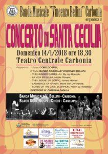 Si svolgerà domenica 14 gennaio, alle ore 18.30, al Teatro Centrale di piazza Roma, il tradizionale concerto di Santa Cecilia
