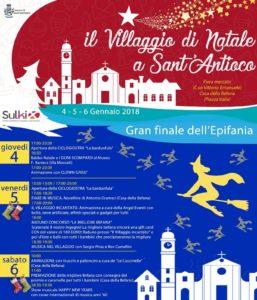 """Verso il gran finale gli eventi de """"Il Villaggio di Natale a Sant'Antioco""""."""