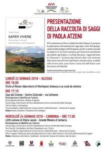Alle 17.00, presso la Lilith-sezione di Storia Locale della Grande Miniera di Serbariu, verrà presentata una raccolta di saggi di Paola Atzeni.