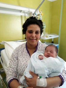 È un maschietto il primo nato nel Sulcis Iglesiente, venuto alla luce all'ospedale CTO di Iglesias alle 3.36 di oggi, 2 gennaio 2018.