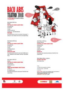 Il terzo speciale appuntamento della 2ª edizione di Bacu Abis Teatro 2018prevede alcune variazioni di programma legate ai festeggiamenti per il Carnevale.