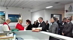 Nella clinica Otorino dell'Aou di Sassari è stato celebrato San Biagio, protettore della gola e patrono degli otorinolaringoiatri.
