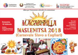 """Domenica 18 febbraio, dalle ore 15,00, per le vie della Marina di Cagliari si svolgerà Maslenitsa, il """"carnevale slavo""""."""