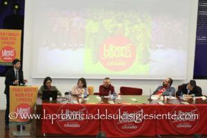 Il coordinatore nazionale Roberto Speranza ha aperto oggi, a Carbonia, la campagna elettorale di Liberi e Uguali per le Politiche del 4 marzo.