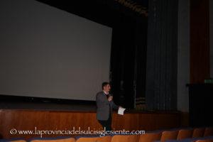 """E' stata inaugurata giovedì 15 febbraio, al Teatro Centrale di Carbonia, la sesta edizione di """"Identità in transito, il Cinema a Teatro""""."""