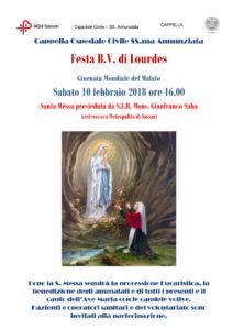 Verrà celebrata sabato 10 febbraio la Giornata mondiale del malato all'Aou di Sassari.