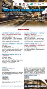 """Prenderà il via giovedì 15 febbraio, al Cine-Teatro Centrale di Carbonia, la sesta rassegna """"Identità in Transito – Il cinema a Teatro""""."""