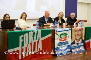 Forza Italia ha presentato sabato sera nella sala conferenze della Grande Miniera di Serbariu, alcuni dei candidati alle Politiche 2018 nei collegi della Camera e del Senato.