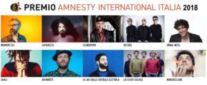 Amnesty International Italia e Voci per la Libertà annunciano le dieci canzoni candidate quest'anno al Premio Amnesty International Italia