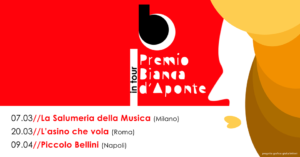"""Per la Festa della donna, al via da Milano il """"Premio Bianca D'Aponte in Tour""""."""