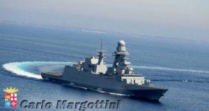 Oggi 12 marzo la Fregata Europea Multi Missione (FREMM) Carlo Margottini della Marina Militare è arrivata nel porto di Doha in Qatar, dove sosterà fino al 15 marzo.