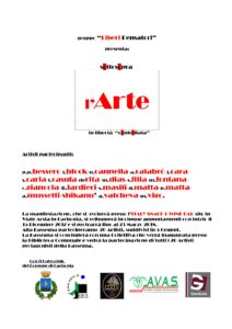 """Verrà inaugurata sabato sera nella Biblioteca comunale di Carbonia, la mostra collettiva di pittura """"sOttosOpra – l'arte in Libertà controllata""""."""