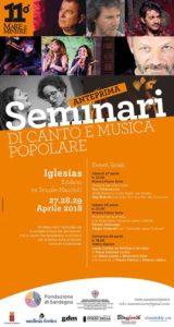 Dal 27 al 29 aprile Iglesias ospiterà l'anteprima dei seminari di canto e musica popolare di Mare e Miniere.