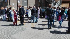 E' scattato l'allarme antincendio al Materno infantile dell'Aou di Sassari.
