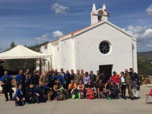 E' prossimo alla conclusione il pellegrinaggio militare interforze della Sardegna, partito sabato 14 aprile scorso da Fonni.