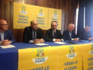 """Ilsegretario nazionaledi """"Energie Per L'Italia""""Stefano Parisi, a Cagliari, ha incontrato la dirigenza regionale del partito."""