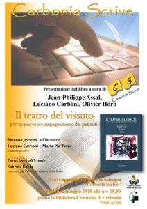 """Mercoledì 2 maggio, nella Biblioteca Comunale di Carbonia verrà presentato il libro """"Il teatro del vissuto: per un nuovo accompagnamento dei pazienti"""""""